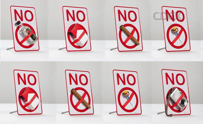 nosign verbotsschild haltevorrichtung botschaft no handy rauchen bonbon verbot ebay. Black Bedroom Furniture Sets. Home Design Ideas