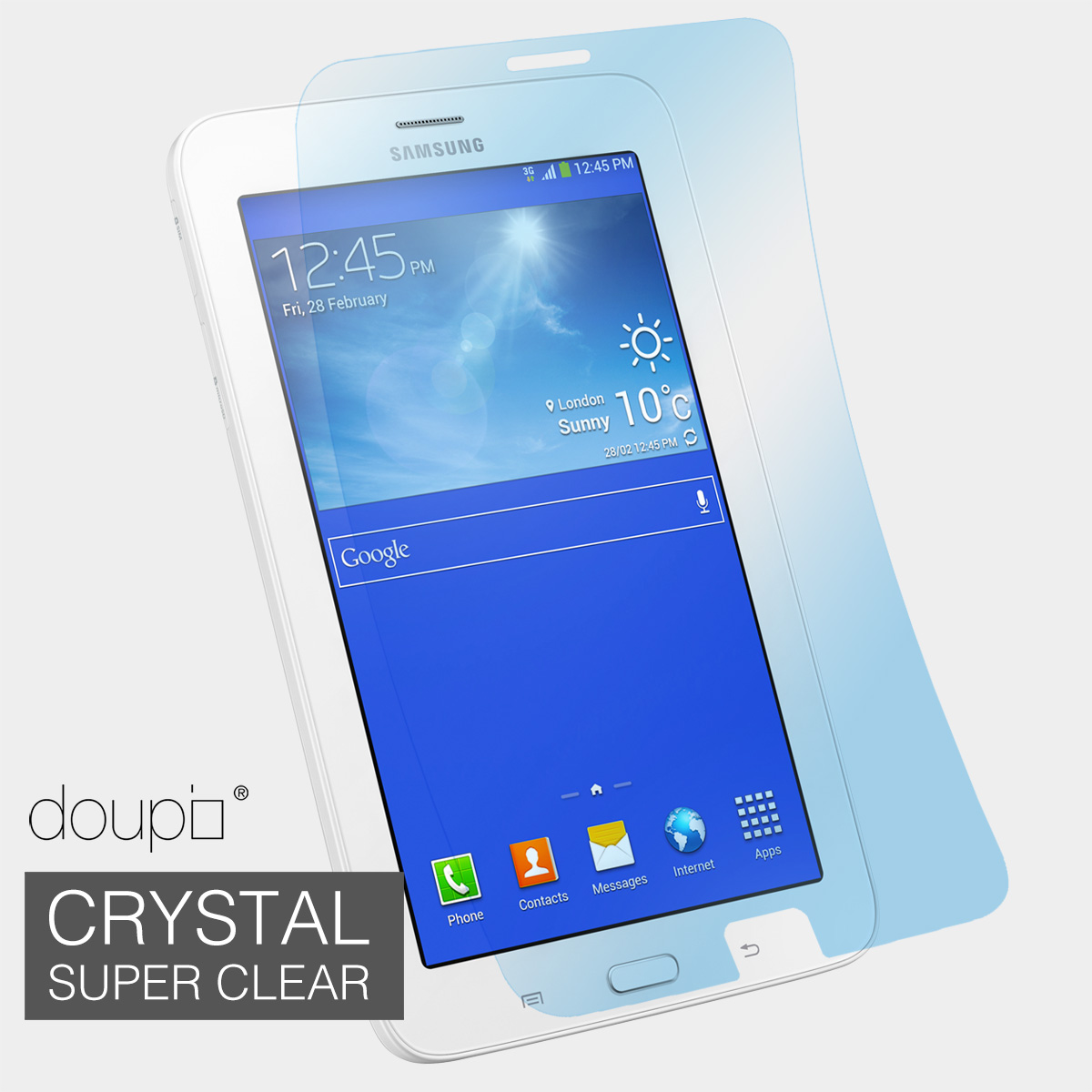 crystal super clear protective film f samsung galaxy tab 3 lite 7 inch ebay. Black Bedroom Furniture Sets. Home Design Ideas