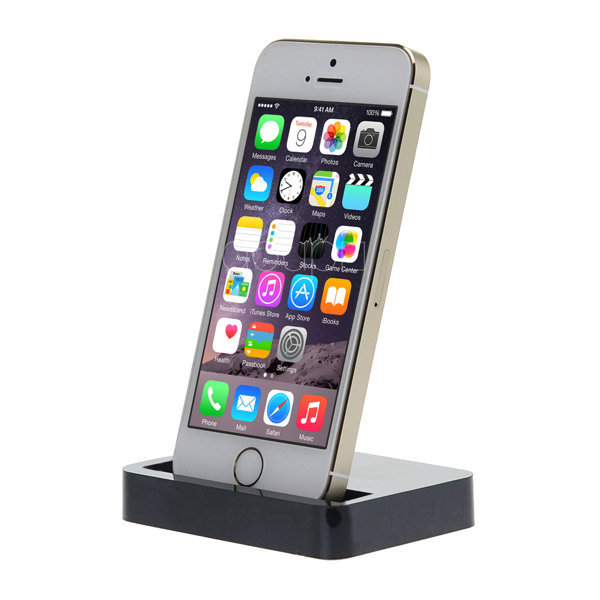 dock docking station iphone 6 6s plus 5 5c 5s se loading device data sync black ebay. Black Bedroom Furniture Sets. Home Design Ideas
