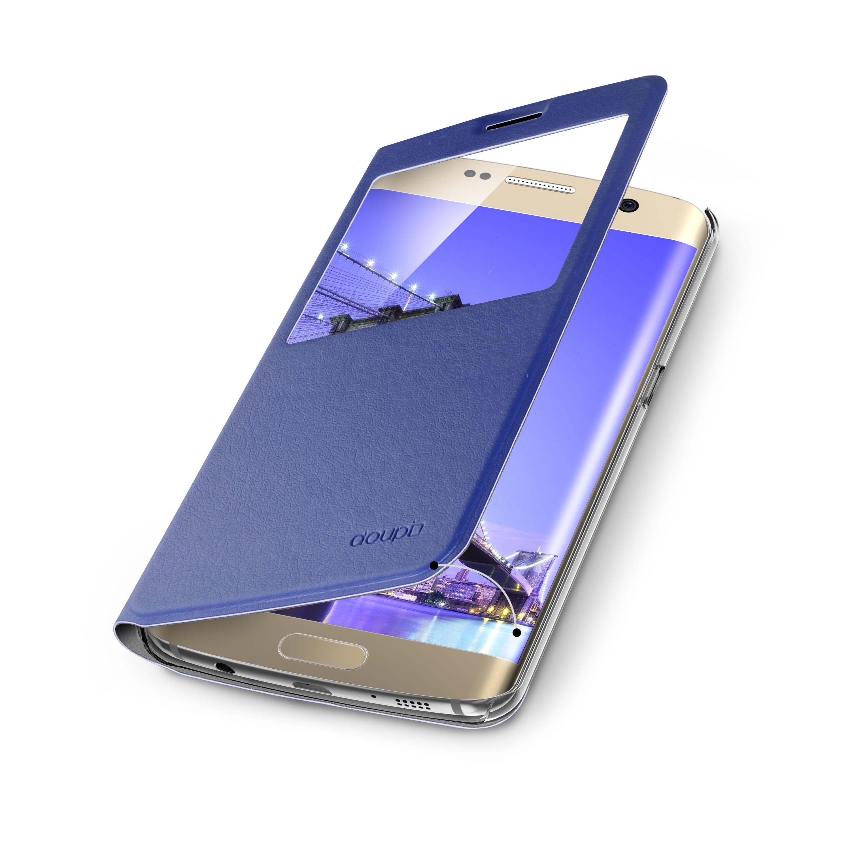 Flip-Case-Samsung-S6-Edge-Magnet-Fenster-Cover-Aufstellbar-Staender-Huelle-Etui Indexbild 22