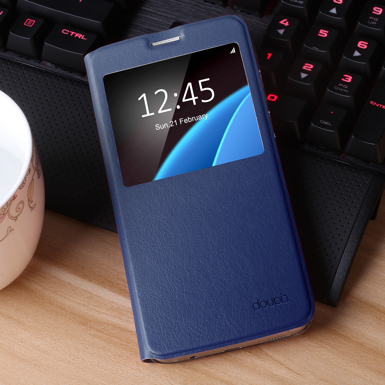 Flip-Case-Samsung-S6-Edge-Magnet-Fenster-Cover-Aufstellbar-Staender-Huelle-Etui Indexbild 24