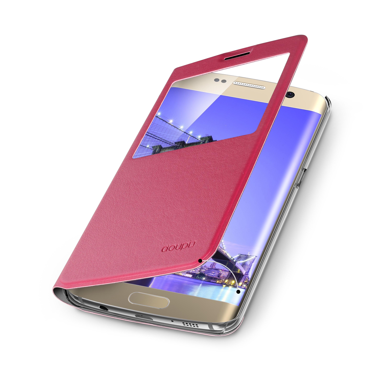 Flip-Case-Samsung-S6-Edge-Magnet-Fenster-Cover-Aufstellbar-Staender-Huelle-Etui Indexbild 17
