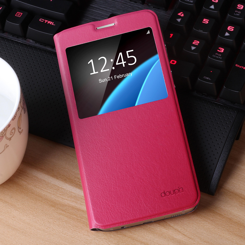 Flip-Case-Samsung-S6-Edge-Magnet-Fenster-Cover-Aufstellbar-Staender-Huelle-Etui Indexbild 19