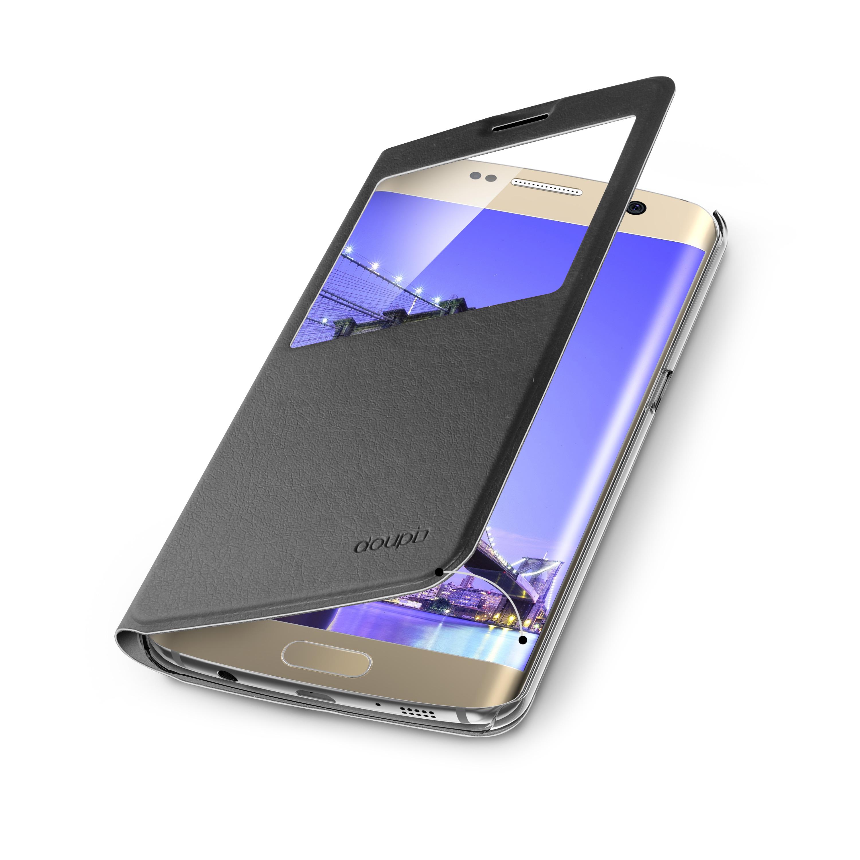 Flip-Case-Samsung-S6-Edge-Magnet-Fenster-Cover-Aufstellbar-Staender-Huelle-Etui Indexbild 7