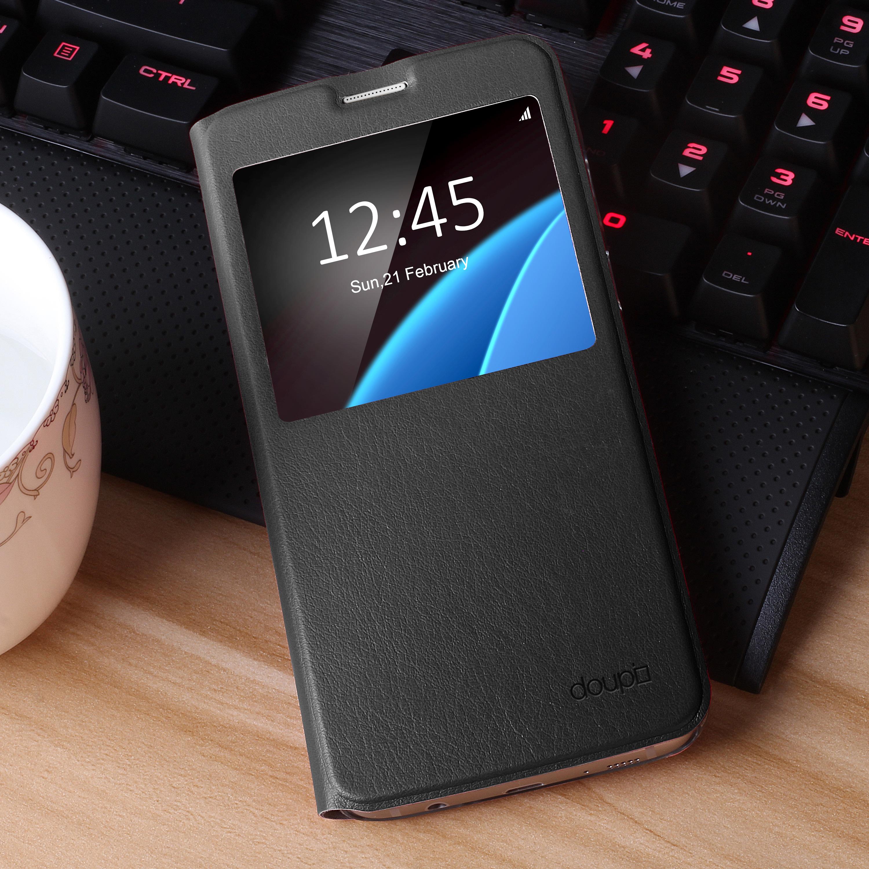 Flip-Case-Samsung-S6-Edge-Magnet-Fenster-Cover-Aufstellbar-Staender-Huelle-Etui Indexbild 9