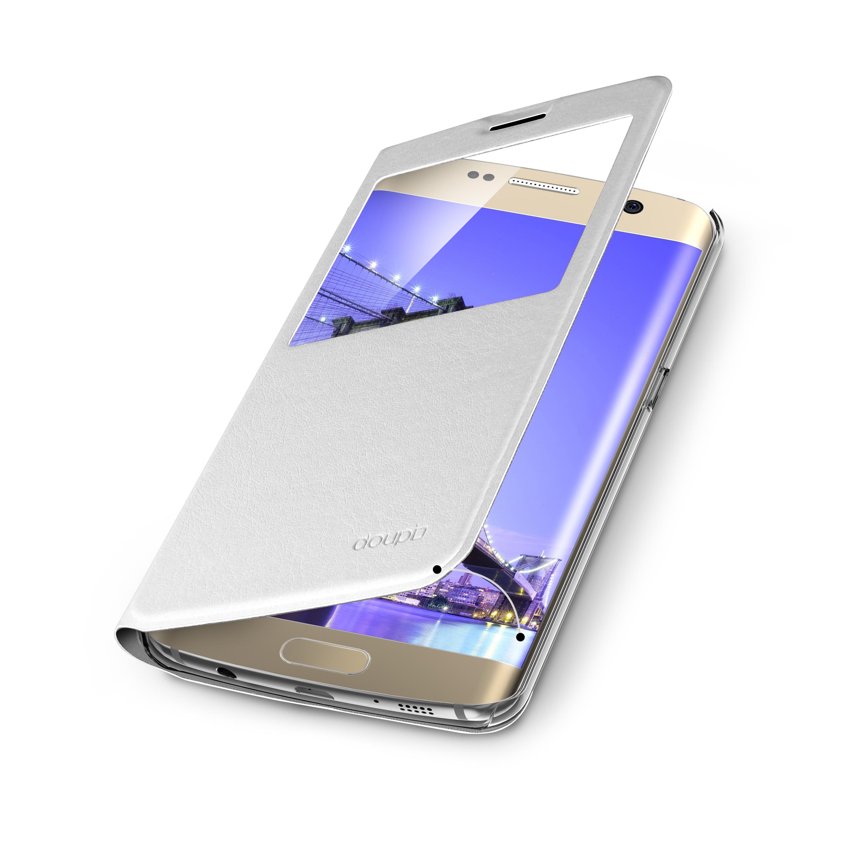 Flip-Case-Samsung-S6-Edge-Magnet-Fenster-Cover-Aufstellbar-Staender-Huelle-Etui Indexbild 12