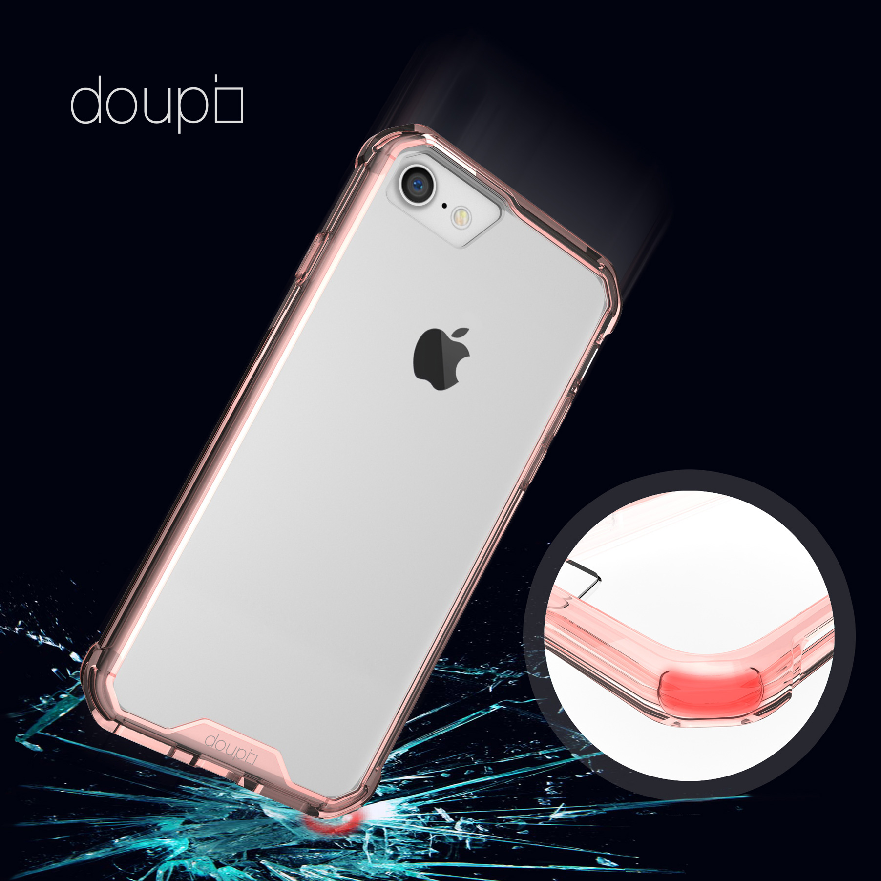 AirClear-Case-iPhone-8-7-4-7-034-Rueckschale-Bumper-Rahmen-Schutz-Huelle-Folie Indexbild 18