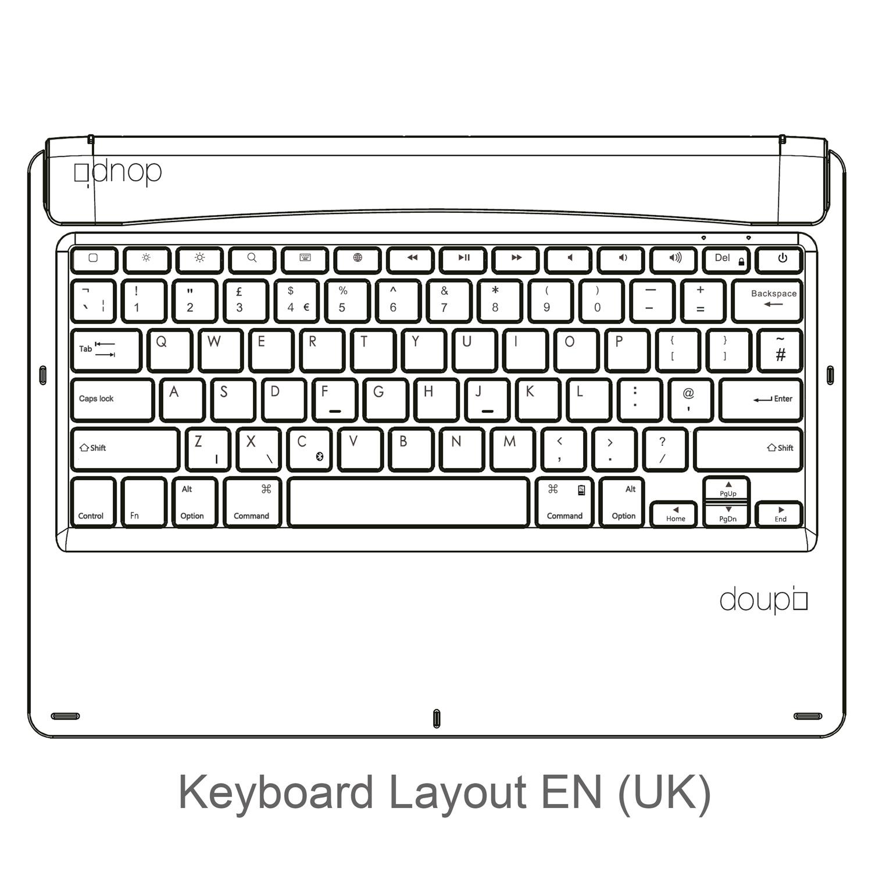 Bluetooth-Tastatur-iPad-Pro-12-9-2015-2017-Smart-Keyboard-Englisch-EN-UK-Tasche Indexbild 10